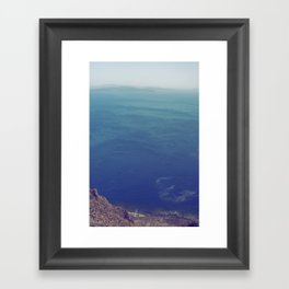 Sea green, ocean blue Framed Art Print