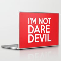 daredevil Laptop & iPad Skins featuring I'm Not Daredevil by allbroke