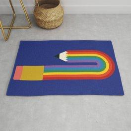 Rainbow Pencil Rug