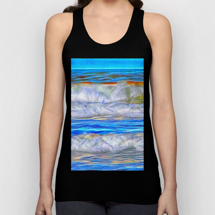 Abstract beautiful ocean waves Unisex Tank Top