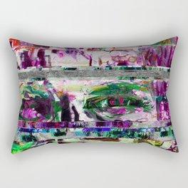 Conways Loose Glitchy Life Rectangular Pillow