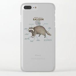 Anatomy of a Raccoon Clear iPhone Case