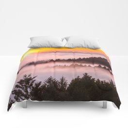 Bolinas Ridge Foggy Sunset Comforters