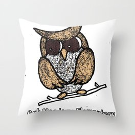 Oak Meadows Owls - Comicesque Throw Pillow