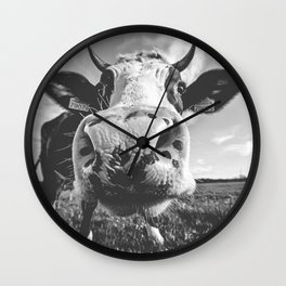 Inquisitive Cow Wall Clock