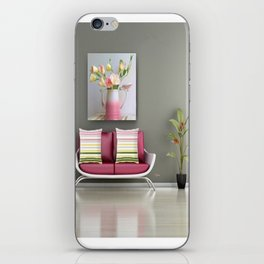 Coffee, Tea or Flowers Vignette iPhone Skin