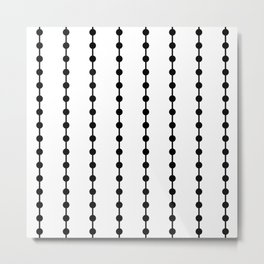 Geometric Droplets Pattern Linked Metal Print