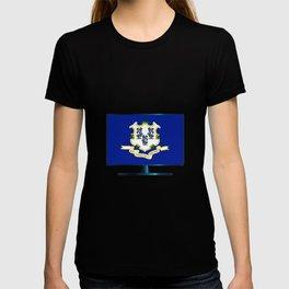 Connecticut Flag TV T-shirt
