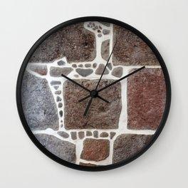 Stone wall colour 3 Wall Clock