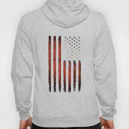 American flag Grunge Black Hoody