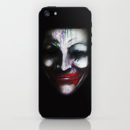 Joker for Vendetta - Acrylic on Wood Panel by Chuck Jackson  iPhone Skin