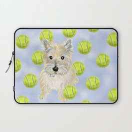 Miss Caroline the Cairn Terrier is Obsessed About Fetching Tennis Balls Laptop Sleeve
