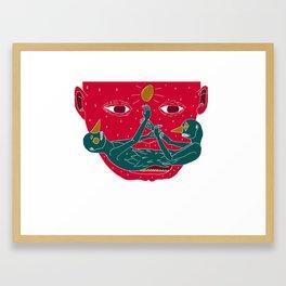 Burning mustache Framed Art Print