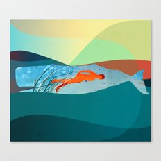 In the water under the sea Canvas Print