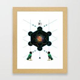 The Core of self - Egyptian Conceptual modern Art Framed Art Print