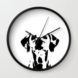 Dalmatian dog watercolour Wall Clock