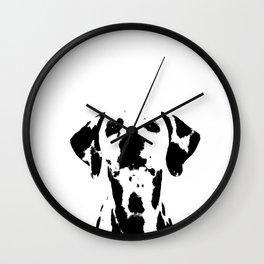 Dalmatian dog watercolour Wall Clock