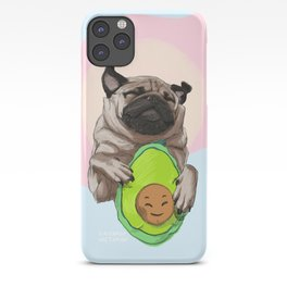 Pug and Avocado iPhone Case