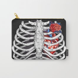 Skeleton Heart Carry-All Pouch