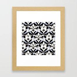 Interwoven XX - Black Framed Art Print