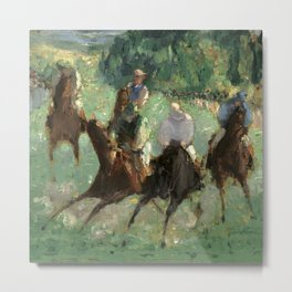 "Édouard Manet ""At the Races"" Metal Print"