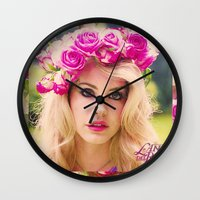 video games Wall Clocks featuring VIDEO GAMES by Ghetto Baby