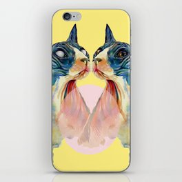 two cats on yellow iPhone Skin