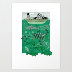 Sea Traffic Art Print