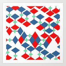 geometric number 5 Art Print