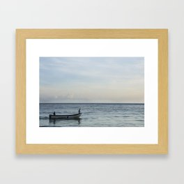 Calm Beach - 3 Framed Art Print