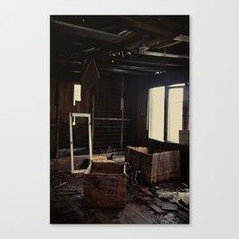 Abandoned crates Canvas Print