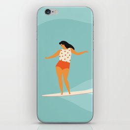 Surf girl iPhone Skin