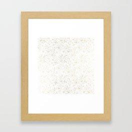Elegant simple modern faux gold white floral Framed Art Print
