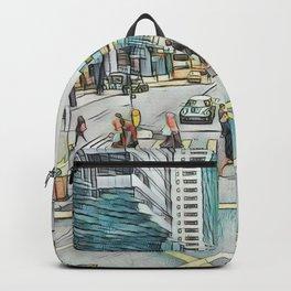 Textured Wan Chai Backpack