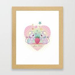 cute mice Framed Art Print