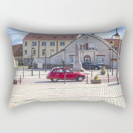 Red Citroen 2 CV Oldtimer in France Rectangular Pillow