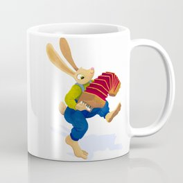 Rabbit with an accordion Coffee Mug