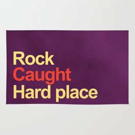 Rock and a hard place Rug