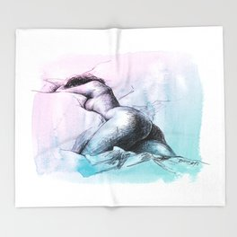 Nude female 3 Throw Blanket