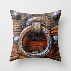 Door knocker Throw Pillow