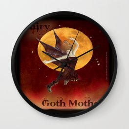 FAERIE GOTH MOTHER - 033 Wall Clock