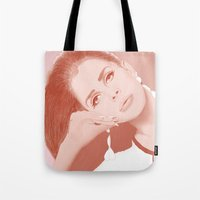 lana Tote Bags featuring LANA by Itxaso Beistegui Illustrations
