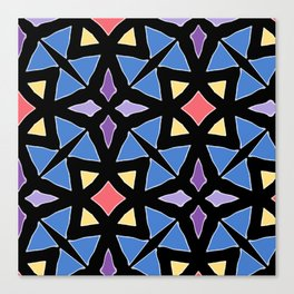 Stained Glass Color Pattern Art Canvas Print