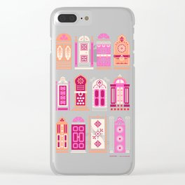 Moroccan Doors – Pink Palette Clear iPhone Case