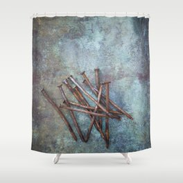 a bunch of nails Shower Curtain