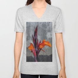 Indian Canna Lily Flowers Unisex V-Neck