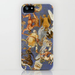 Fresco of the Villa Farnese, Lazio, Italy iPhone Case