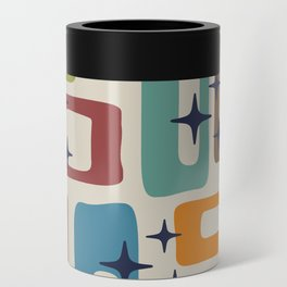 Retro Mid Century Modern Abstract Pattern 224 Can Cooler