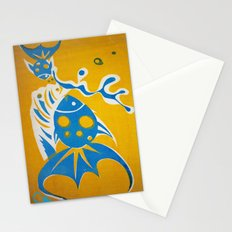Screenprint Gold and Fish Stationery Cards