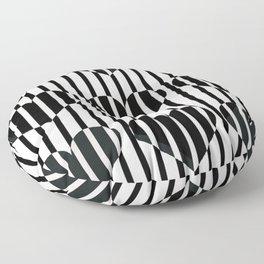 Black and White Stripe Hearts Design Floor Pillow